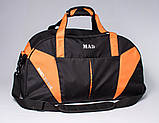 Спортивная сумка с карманом для обуви 42L Cross Porter черный с оранжевым от MAD, фото 6