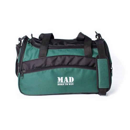 Якісна спортивна сумка каркасної форми TWIST зелена від MAD | born to win™