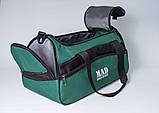 Якісна спортивна сумка каркасної форми TWIST зелена від MAD | born to win™, фото 2