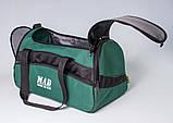 Якісна спортивна сумка каркасної форми TWIST зелена від MAD | born to win™, фото 3