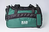 Якісна спортивна сумка каркасної форми TWIST зелена від MAD | born to win™, фото 4