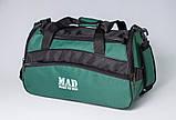 Якісна спортивна сумка каркасної форми TWIST зелена від MAD | born to win™, фото 5