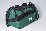 Якісна спортивна сумка каркасної форми TWIST зелена від MAD | born to win™, фото 6