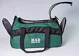 Якісна спортивна сумка каркасної форми TWIST зелена від MAD | born to win™, фото 7