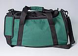 Якісна спортивна сумка каркасної форми TWIST зелена від MAD | born to win™, фото 9