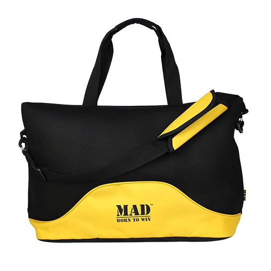 Стильна і сучасна жіноча спортивна сумка для фітнесу LATTICE жовтого кольору від MAD   born to win™