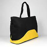 Стильна і сучасна жіноча спортивна сумка для фітнесу LATTICE жовтого кольору від MAD   born to win™, фото 2