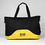 Стильна і сучасна жіноча спортивна сумка для фітнесу LATTICE жовтого кольору від MAD   born to win™, фото 4