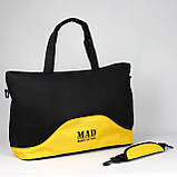 Стильна і сучасна жіноча спортивна сумка для фітнесу LATTICE жовтого кольору від MAD   born to win™, фото 5