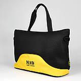Стильна і сучасна жіноча спортивна сумка для фітнесу LATTICE жовтого кольору від MAD   born to win™, фото 6