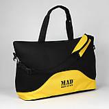 Стильна і сучасна жіноча спортивна сумка для фітнесу LATTICE жовтого кольору від MAD   born to win™, фото 7