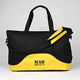 Стильна і сучасна жіноча спортивна сумка для фітнесу LATTICE жовтого кольору від MAD   born to win™, фото 8