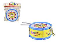 Барабан дитячий 019 ( 019(Blue) мікс, в пакеті 24*28*9,5 см, р-р іграшки– 18.5*18.5*9.5 см)