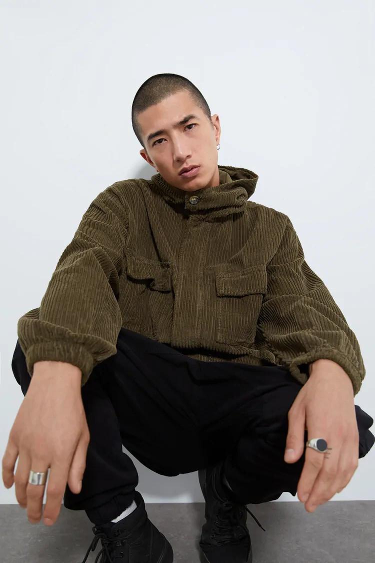 Куртка мужская Zara коричневая (5151 391 595)