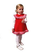 """Сарафан детский для девочки М -1025 рост 104 110 116 122 и 128 тм """"Попелюшка"""" красный"""