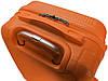 Валіза пластикова на 4х колесах середня M помаранчева | 25х65х42 см | 3.150 кг | 62 л | FLY 1093 , фото 7