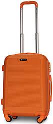 Валіза пластикова на 4х колесах мала S помаранчева   23х55х37 см   3.150 кг   35 л   FLY 1093