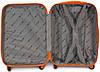 Чемодан пластиковый на 4х колесах малый S оранжевый   23х55х37 см   3.150 кг   35 л   FLY 1093, фото 4