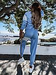 Жіночий спортивний костюм, турецька двунить, р-р 42-44; 44-46 (блакитний), фото 4