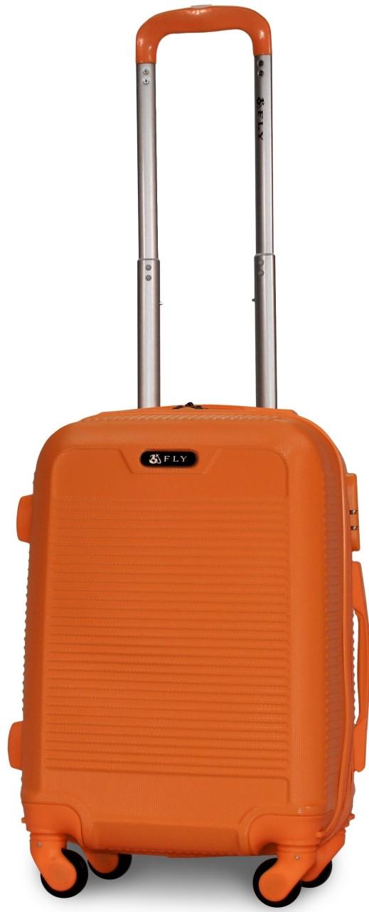 Чемодан пластиковый на 4х колесах мини XS оранжевый   20х51х35 см   2.400 кг   27 л   FLY 1093