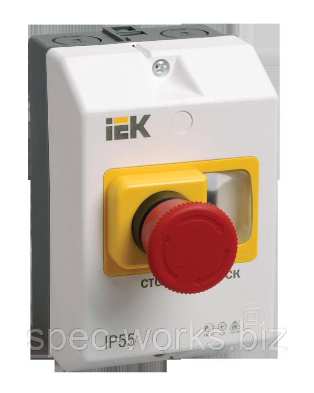 """Захисна оболонка з кнопкою """"Стоп"""" IP54 IEK"""