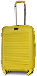 Чемодан пластиковый на 4х колесах средний M желтый | 25х65х42 см | 3.150 кг | 62 л | FLY 1093