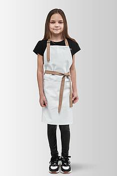 Фартук детский Latte Junior 7-12 лет Бело-бежевый