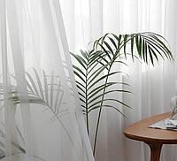 Тюль шифон, белый однотонный. Тюль для спальни, зала, гостиной, кухни