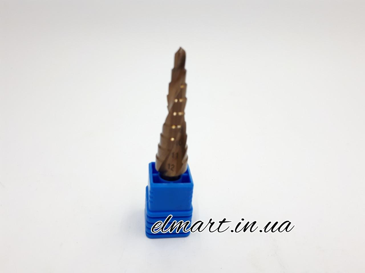 Свердло ступеневу кобальтовое 4-12мм Rapide спіральний профіль шестигранний хвостовик