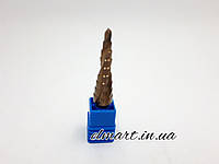 Сверло ступенчатое кобальтовое 4-12мм Rapide спиральный профиль шестигранный хвостовик, фото 1