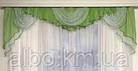 Ламбрекен из шифона для дома, ламбрекен в зал спальню гостинную детскую кухню, красивые ламбрекены для, фото 6