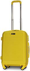 Чемодан пластиковый на 4х колесах малый S желтый   23х55х37 см   3.150 кг   35 л   FLY 1093