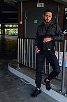 Спортивный костюм Nike мужской Найк серый черный + Барсетка в Подарок
