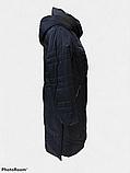 Жіночий демісезонний довгий плащ супербатал Grey Cardinal V-56, фото 6