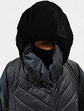 Жіночий демісезонний довгий плащ супербатал Grey Cardinal V-56, фото 3