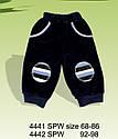 Детские велюровые штаны Мишка темно-синие для мальчика р.68-98 см (Nicol, Польша), фото 4