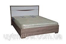 Ліжко Мега 1600+внесок дуб сонома трюфель/білий лак (Просто Меблі)