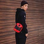 Чоловіча стильна сумка барсетка через плече еко-шкіра Puma Ferrari червоний з чорним., фото 2