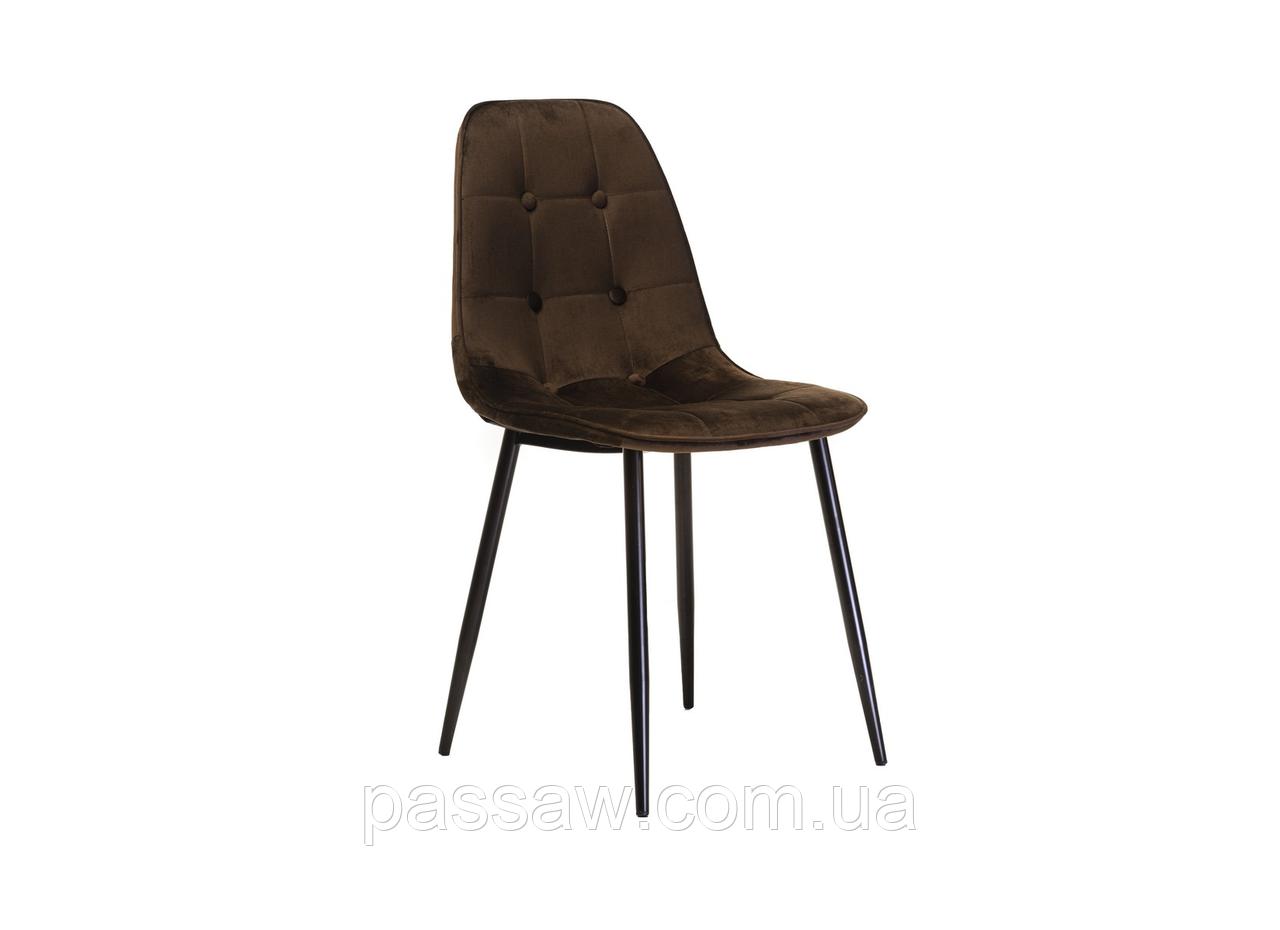 Стул М-01-3 коричневый вельвет