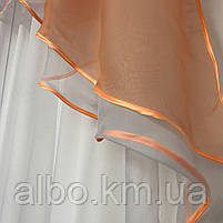 Шифон ламбрекен для спальни зала кухни, шторы ламбрекен на тесьме в спальню, ламбрекен из шифона для детской,, фото 4