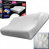 Ортопедическая подушка Comfort Memory Pillow Foam | Умная подушка с памятью Мэмори Пилоу, фото 3