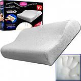 Ортопедична подушка Comfort Memory Pillow Foam | Розумна подушка з пам'яттю Мэмори Пилоу, фото 3
