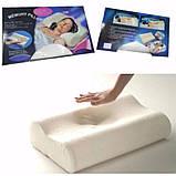 Ортопедическая подушка Comfort Memory Pillow Foam | Умная подушка с памятью Мэмори Пилоу, фото 4