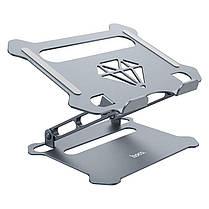 Подставка для ноутбука и планшета складная алюминиевая Hoco PH38 с регулировкой высоты и угла наклона, фото 2