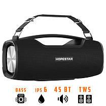 Портативна бездротова Bluetooth колонка Hopestar Original A6 PRO SUPPER BASS Black чорна Speaker, фото 2