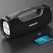 Портативна бездротова Bluetooth колонка Hopestar Original A6 PRO SUPPER BASS Black чорна Speaker, фото 3