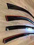Дефлектори вікон (вітровики) Fiat Grande Punto III 5d 2005 (Фіат Гранде Пунто) Cobra Tuning, фото 3