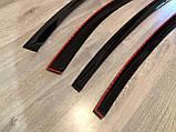 Дефлектори вікон (вітровики) Fiat Grande Punto III 5d 2005 (Фіат Гранде Пунто) Cobra Tuning, фото 5