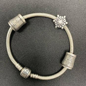 Серебряный браслет Б/У 925 пробы, длина 17,5 см, вес 24,07 г. Серебро из ломбарда