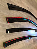 Дефлектори вікон (вітровики) Kia Ceed I Hb 3d 2007-2012 (Кіа Сід) Cobra Tuning, фото 2